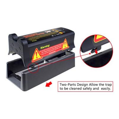 Knock off Elektrische muizen en rattenval met adapter op stroom en batterijen